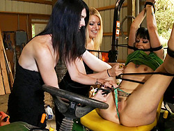 Mandy hollie and sparky. Naughty Hollie and TS Mandy tying up a hot girl in the barn