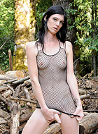 Getting nasty in the woods Lascivious shemale Mandy Mitchell getting nasty in the woods.